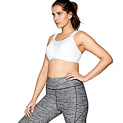Shock Absorber - White 'Active Max Classic Support' non-wired padded DD+ sports bra