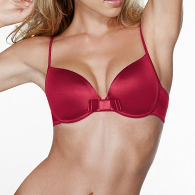 Red Joyful Sparkle balcony bra