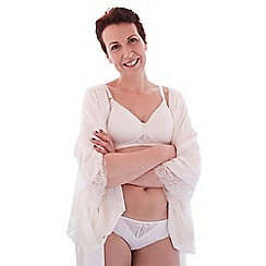 Spirit Post Surgery - White striped non-wired t-shirt mastectomy bra