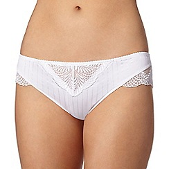 Spirit - White striped No VPL brazilian briefs
