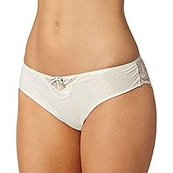 Spirit - Cream fan embroidery brazilian brief