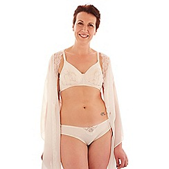 Spirit Post Surgery - Cream fan embroidery padded non-wired mastectomy bra