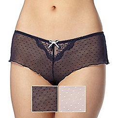 Debenhams - 2 pack mesh spotted shorts