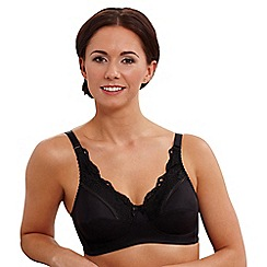 Royce - Black 'Jasmine' non wired pocketed bra