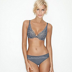 Wonderbra - Grey 'My Pretty Push Up' lace bra