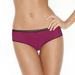 Wonderbra - Dark pink 'Glam Medallion' shorts