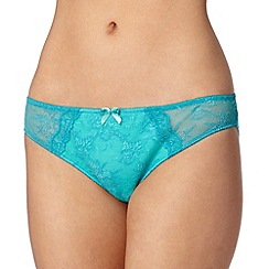 Ultimate - Turquoise lace brazilian briefs