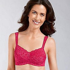 Amoena - Bright pink 'Rebecca' non wired bra