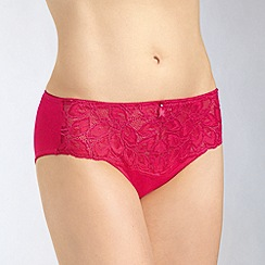 Amoena - Bright pink 'Rebecca' lace briefs