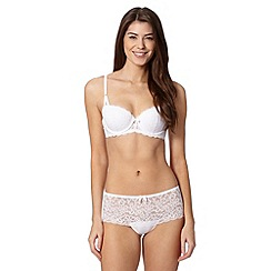 Debenhams - White lace balcony bra