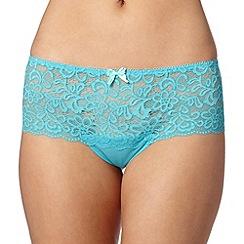 Debenhams - Turquoise lace shorts