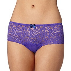 Debenhams - Purple lace shorts