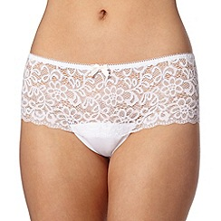 Debenhams - White lace shorts