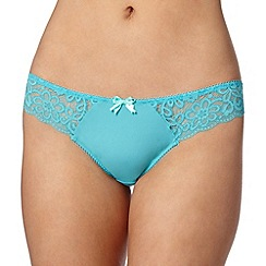 Debenhams - Turquoise lace brazilian briefs