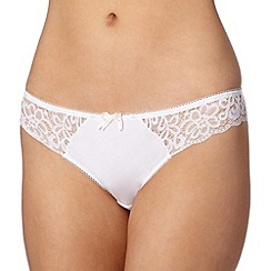 Debenhams - White lace brazilian briefs