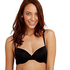 Debenhams - Pack of two black and white t-shirt bras
