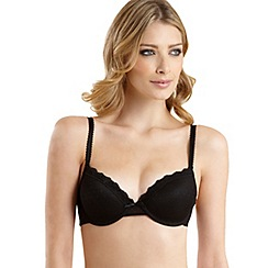 Debenhams - Black spotted mesh t-shirt bra