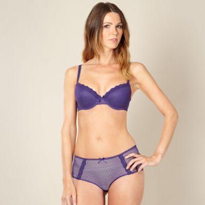 Bright purple mesh and lace t-shirt bra