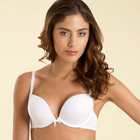 Debenhams - White air boost push up bra