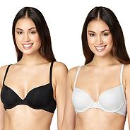 Pack of two black & white shadow striped t-shirt bras