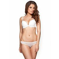 Gossard - White 'Glossies' padded plunge bra