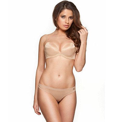 Gossard - Nude +Glossies+ padded plunge bra