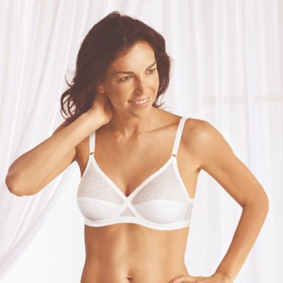 White cotton rich non wired bra