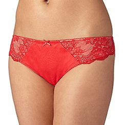 Ultimate - Red floral lace brazilian briefs