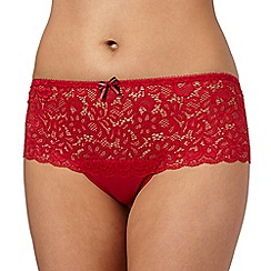 Debenhams - Red lace g shorts