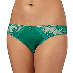 Ultimate - Green lace hip satin brazilian briefs