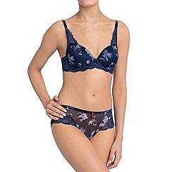 Triumph - Blue 'Mon Amour Spotlight' floral t-shirt bra