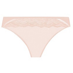 Wonderbra - Light pink 'My Pretty Push Up' lace brazilian briefs