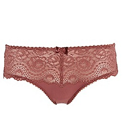 Playtex - Dark pink floral lace briefs
