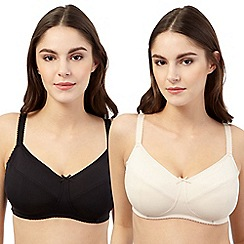 Miriam Stoppard Nurture - Pack of two nude and black maternity bras