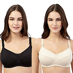 Miriam Stoppard Nurture - Pack of two nude and black nursing bras