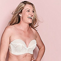 Wonderbra - Ivory ultimate strapless lace bra