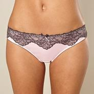 Pink satin brazilian briefs