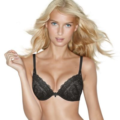 Chic Lace in black push up bra