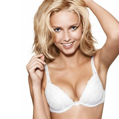 Chic Lace white push-up bra