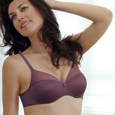 Purple Tonique Contour Decorated t-shirt bra