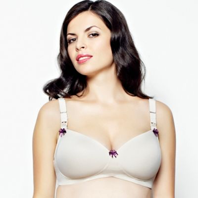 Natural toffee multiway nursing bra