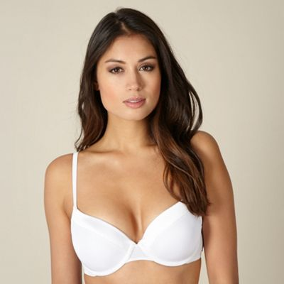 White Mega Boost liquid filled push up bra