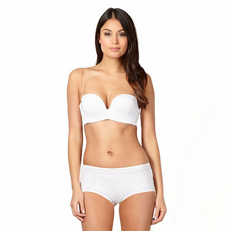 Debenhams - White hidden support multiway bra