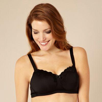 Black non-wire C-G multiway maternity bra