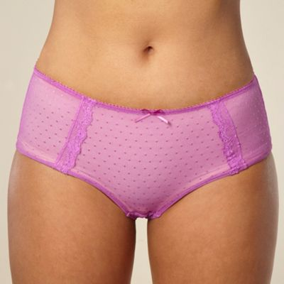 Light purple spotted mesh shorts
