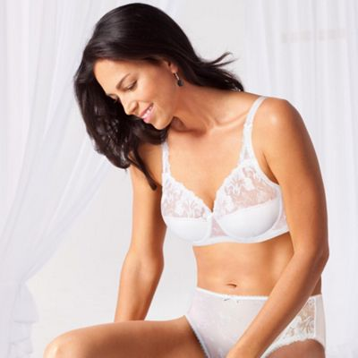 White Tulle Decor full cup bra