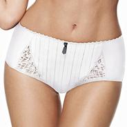 White tasselled lace briefs