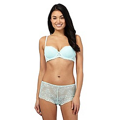 The Collection - Pale green floral lace balcony bra