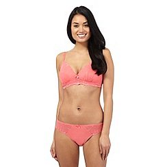 The Collection - Coral floral lace non wired bra