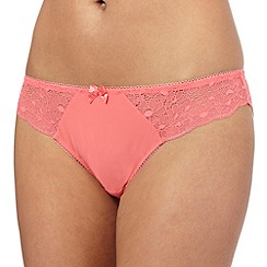 The Collection - Coral lace Brazilian briefs